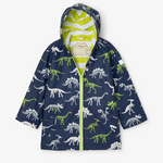 Hatley Splash Jacket Colour Changing Dino Fossils
