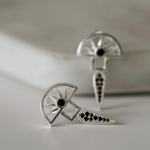 Silver Linings Collective Horizon Earrings Silver