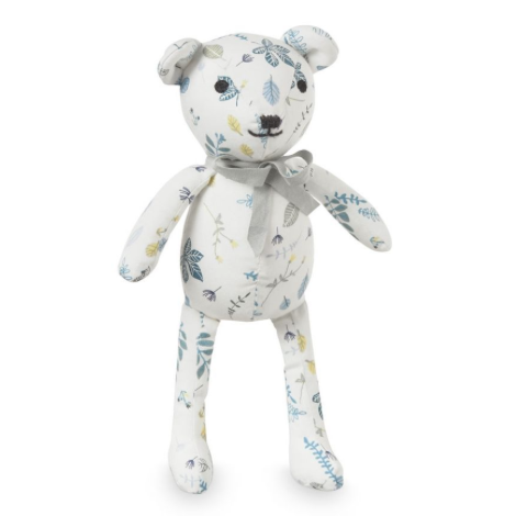 CAM CAM Teddy Bear Pressed Leaves Blue