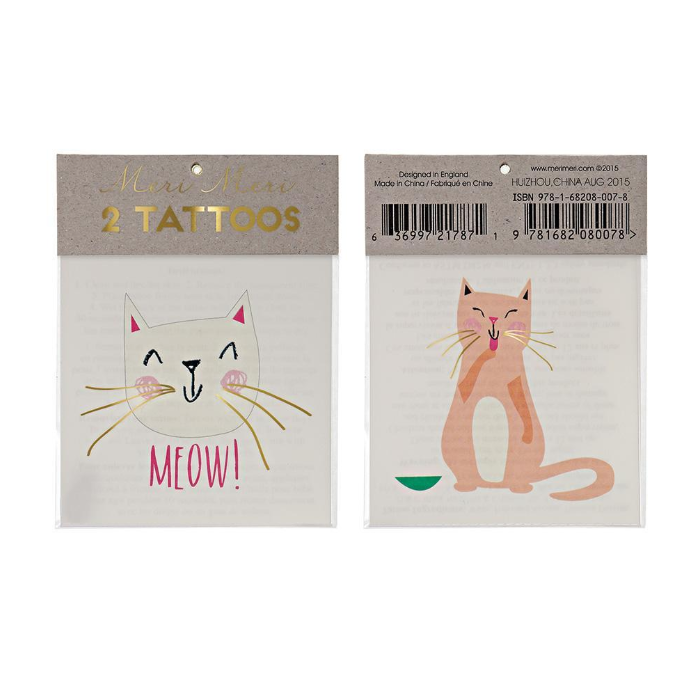 Meri Meri Cat Tattoos