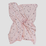 Burrow & Be Organic Cotton Stretchy Swaddle Star Blush