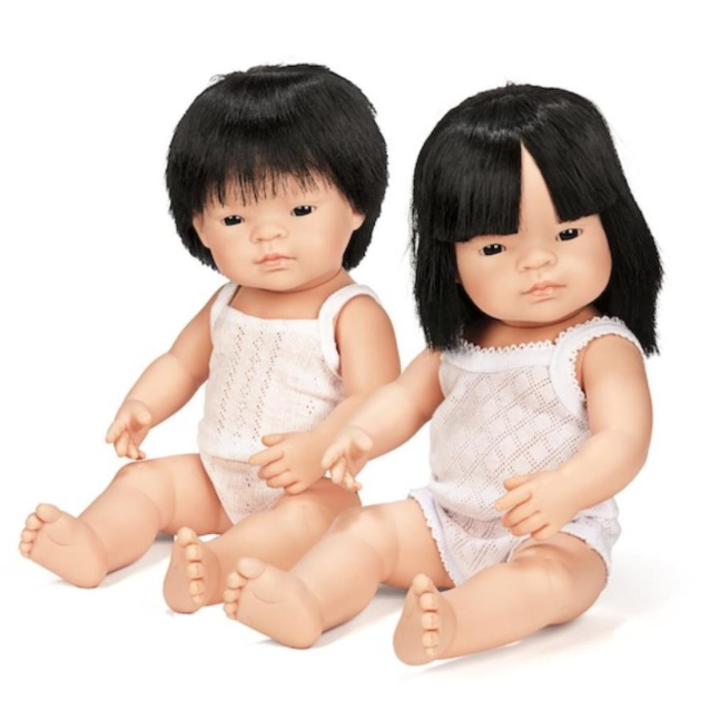 Miniland Anatomically Correct Baby Doll 38cm Asian Girl Boxed