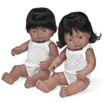 Miniland Anatomically Correct Baby Doll 38cm Hispanic Girl