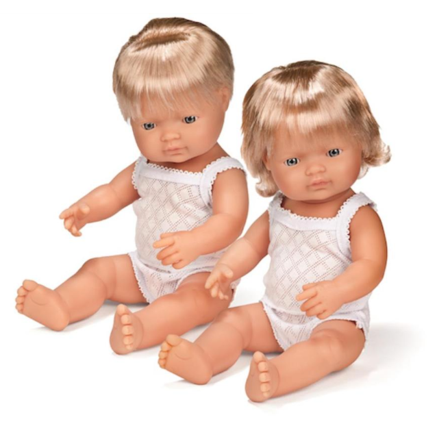 Miniland Anatomically Correct Baby Doll 38cm Caucasian Girl