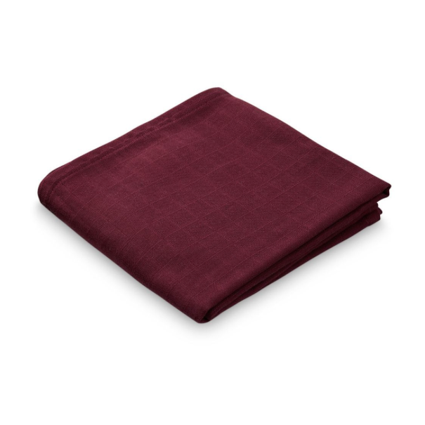 CAM CAM Organic Muslin Cloth Bordeaux