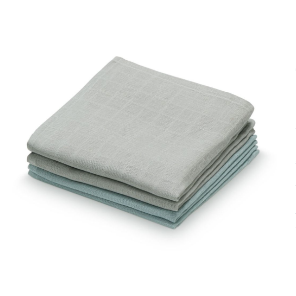 CAM CAM Organic Muslin Washcloths 4 Pack Mix Grey
