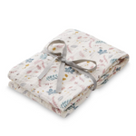 CAM CAM Organic Light Swaddle Pressed Leaves Rose