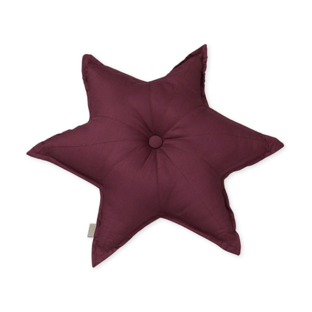 CAM CAM Star Cushion Bordeaux