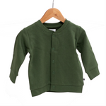 Burrow & Be Fleece Cardigan Pine