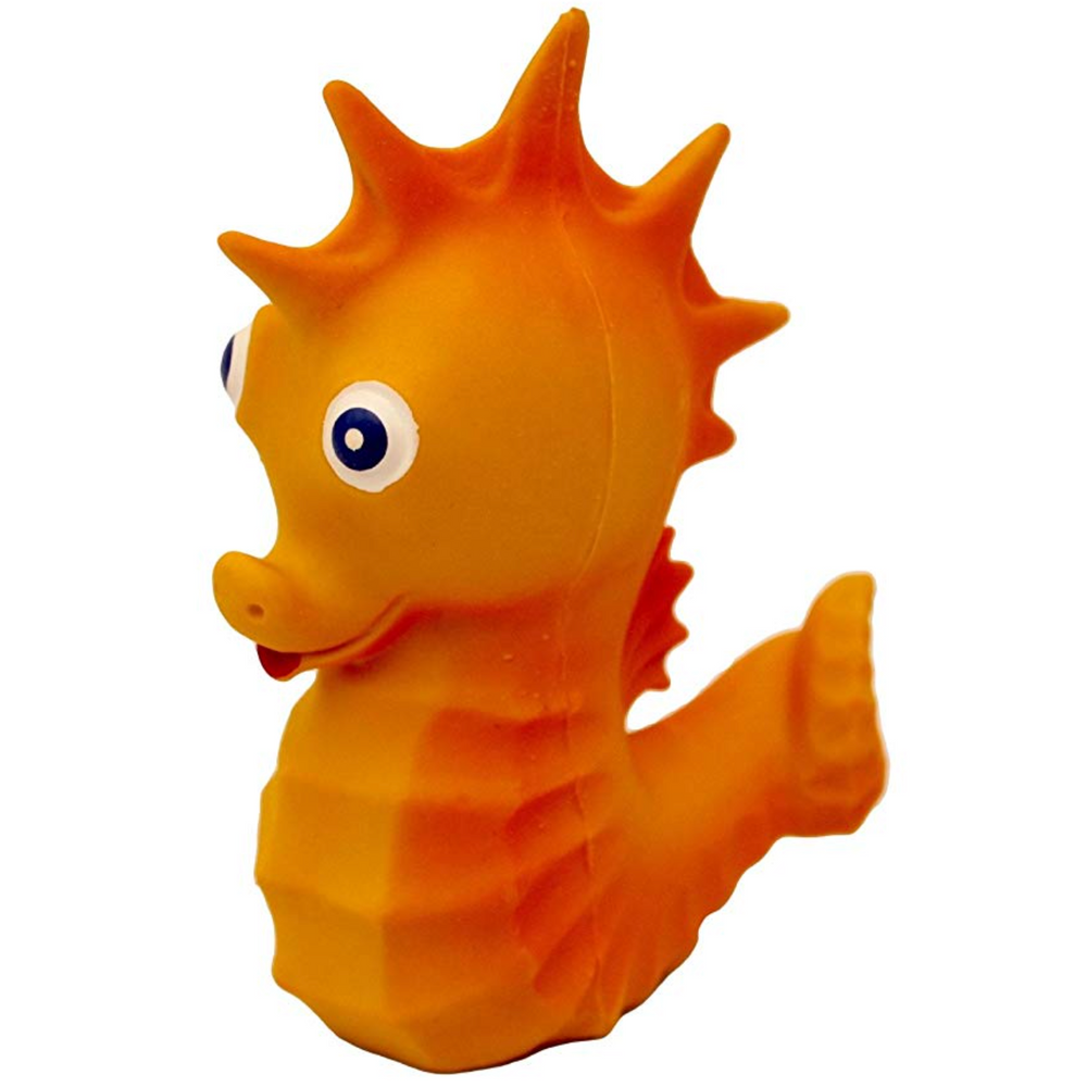 Bath Toy Natural Rubber Seahorse
