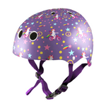 Kiddimoto Helmet Purple Unicorn