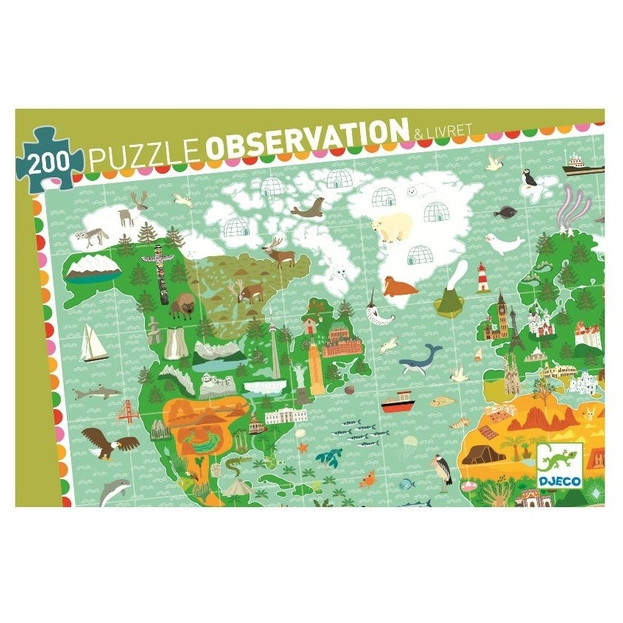 Around the World Puzzle 200pce
