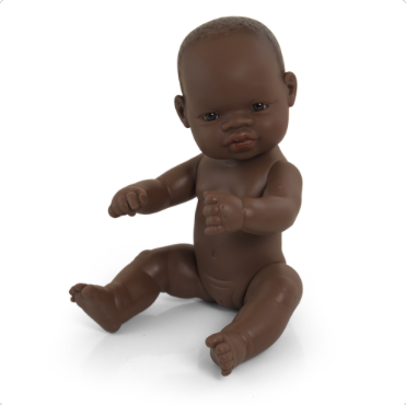 Miniland Anatomially Correct Baby Doll 32cm African Girl