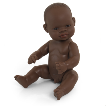 Miniland Anatomially Correct Baby Doll 32cm African Boy