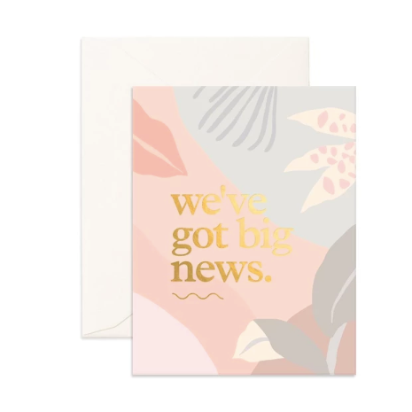 Big News Greeting Card