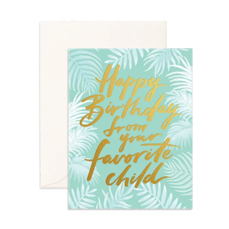Favourite Child Greeting Card