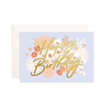 Happy Birthday Floribunda Mini Greeting Card