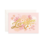 Love You Floribunda Mini Greeting Card