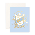 No Sleep Club Greeting Card Blue