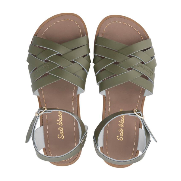 Womens Saltwater Sandal Retro Olive