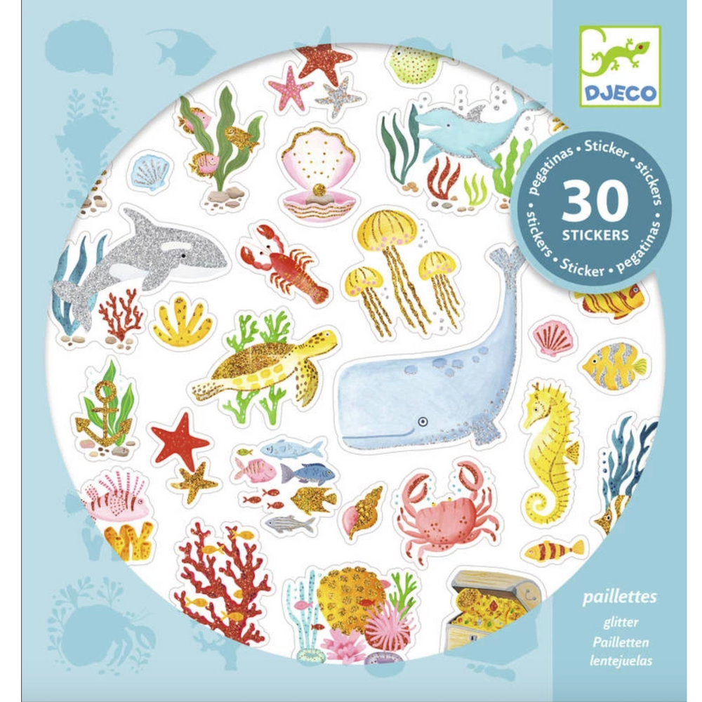 30 Textured Stickers Aqua Dream