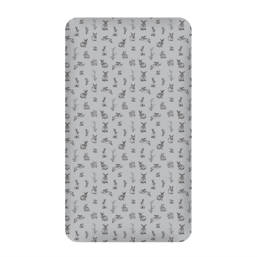 Burrow & Be Grey Burrowers Cot Sheet