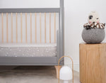 Mister Fly Cot Sheet Grey Bunny