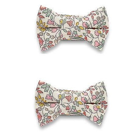 Katie Twin Bow Snaps Liberty Spring Flowers
