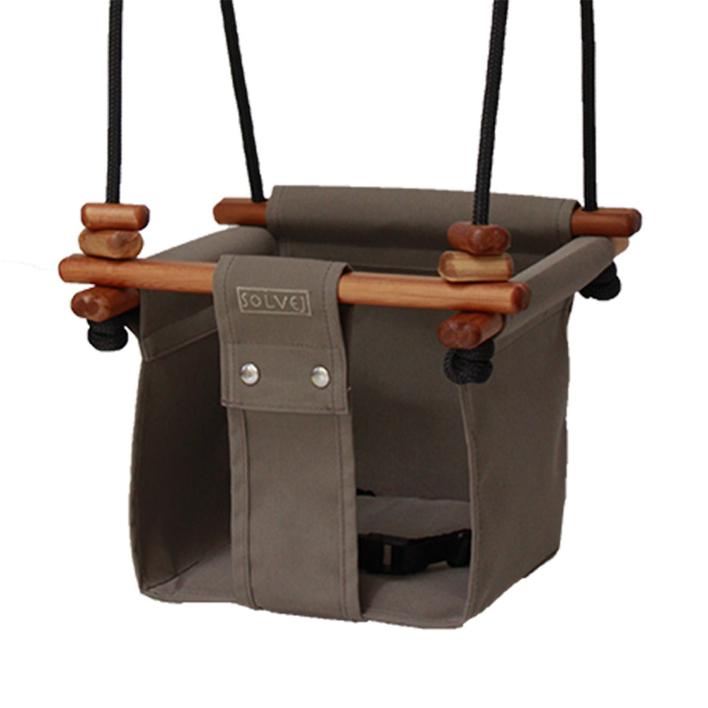 Solvej Baby and Toddler Canvas Swing, Classic Taupe