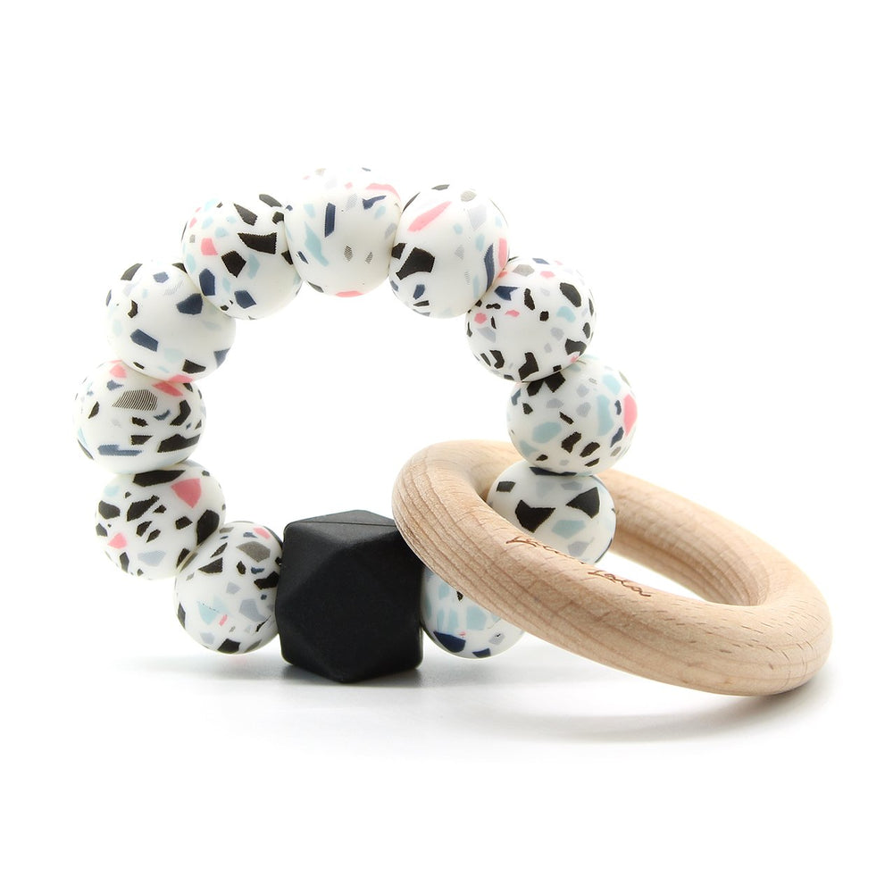 Lulu + Lala Teether Terazzo & Beech Wood