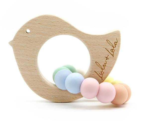 Lulu + Lala Teether Tweet Pastel