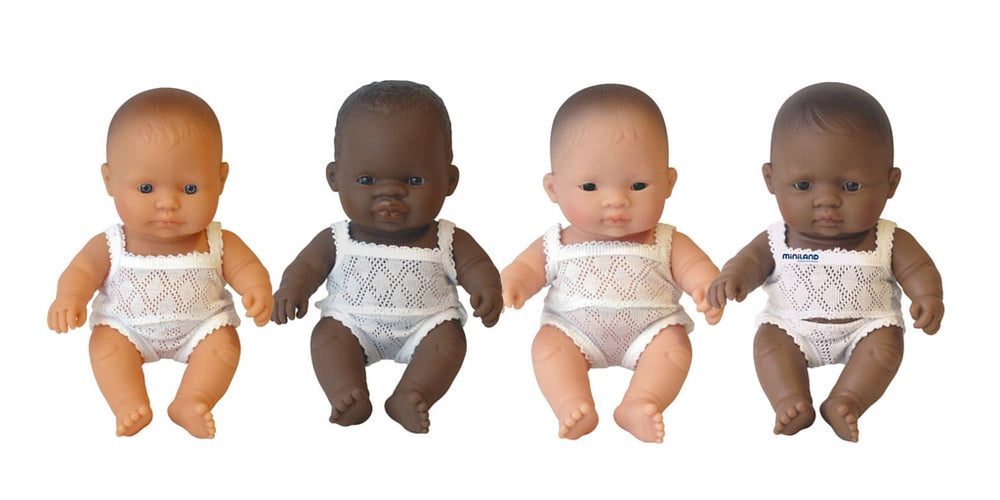 Miniland Anatomically Correct Baby Doll 21cm Caucasian Boy