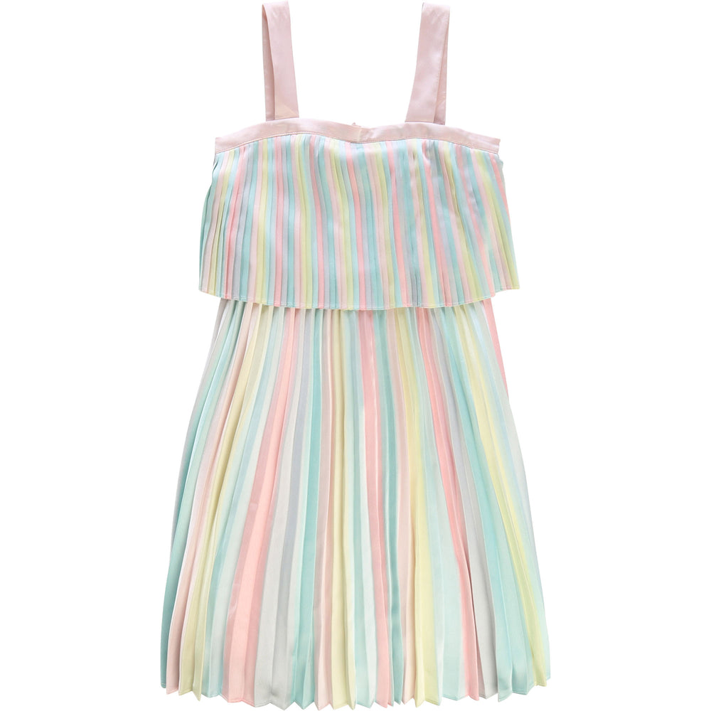 Billieblush Rainbow Pleat Dress (Last Sizes 2 & 3Y)