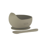 Petite Eats Silicone Bowl and Spoon Sage