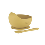 Petite Eats Silicone Bowl and Spoon Mustard