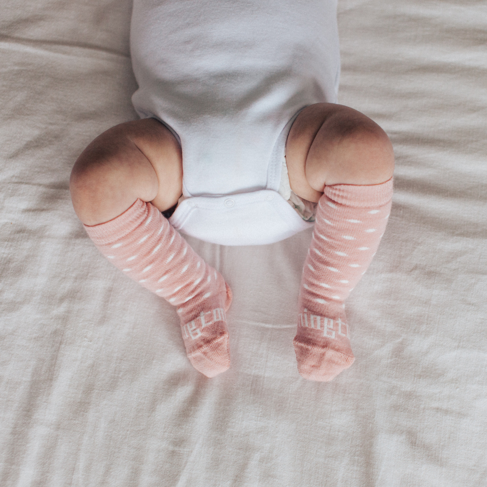 Lamington Baby Merino Knee High Socks Wish