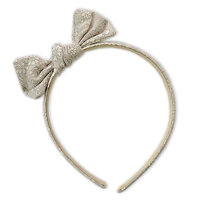Zoe Headband with Bow Liberty Silver Belle