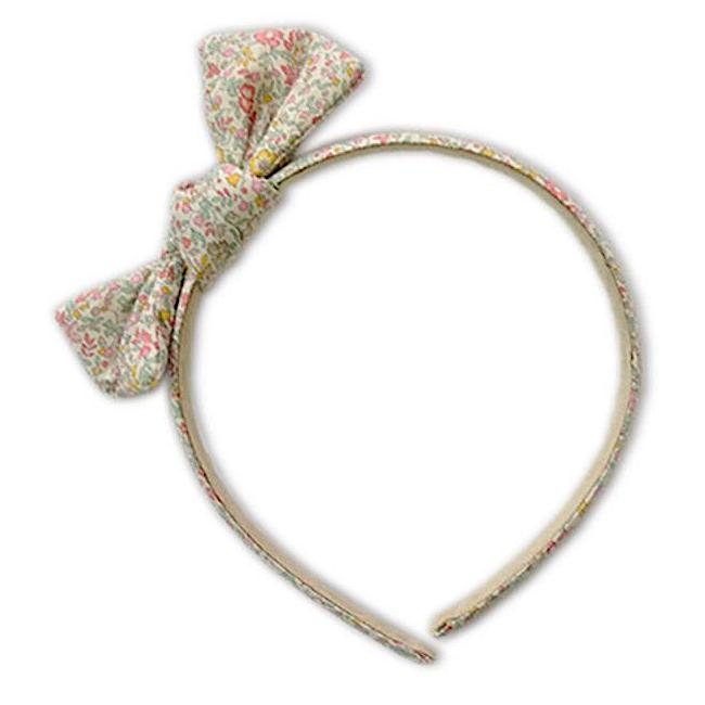 Zoe Headband with Bow Liberty Spring Flowers