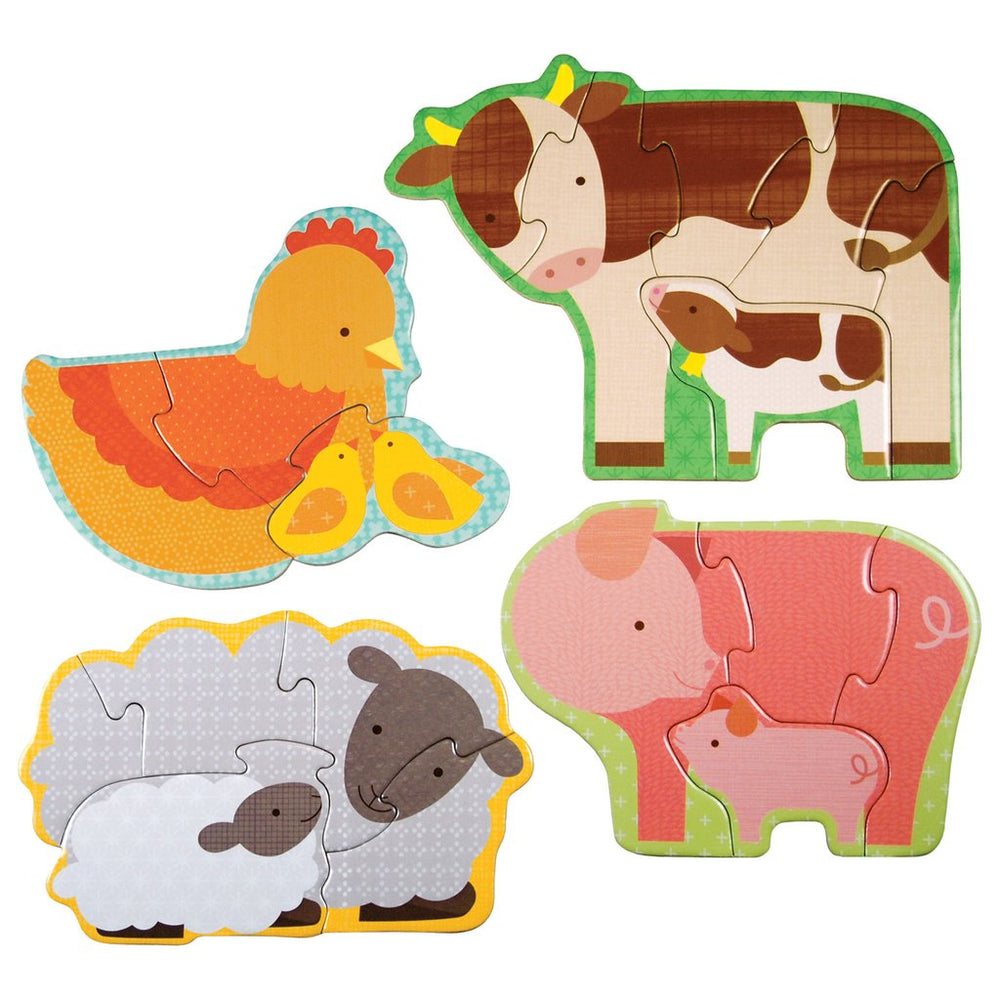 Le Petit Collage Farm Babies Beginner Puzzle