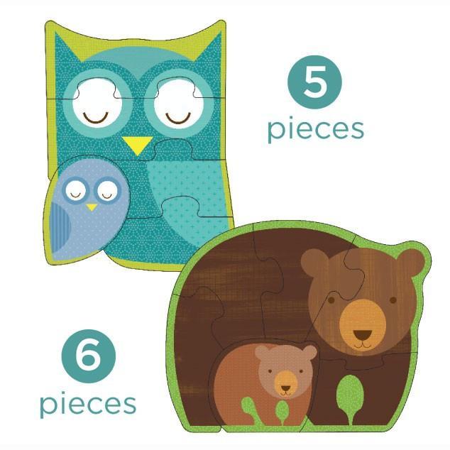 Le Petit Collage Forest Babies Beginner Puzzle