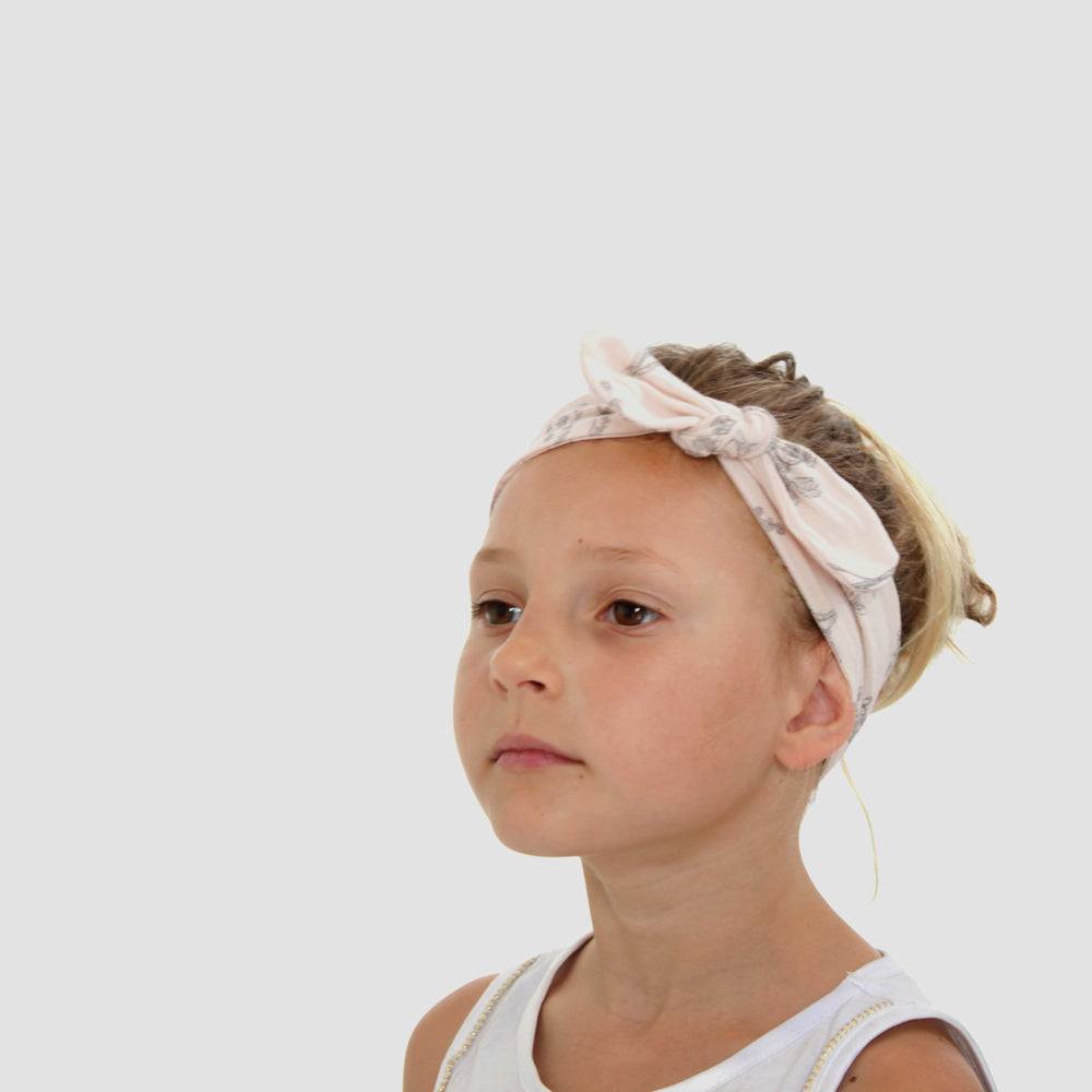 Burrow & Be Top Knot Headband Meadow Blush