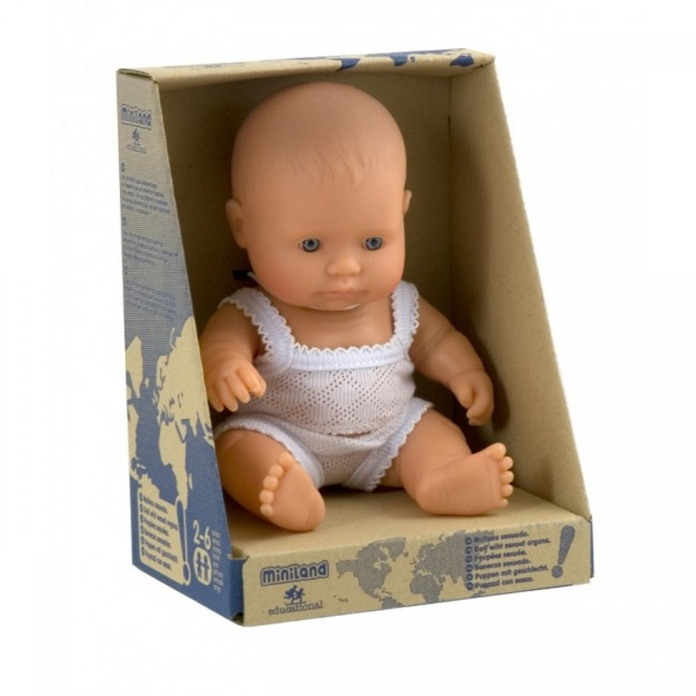 Miniland Anatomically Correct Baby Doll 21cm Caucasian Girl
