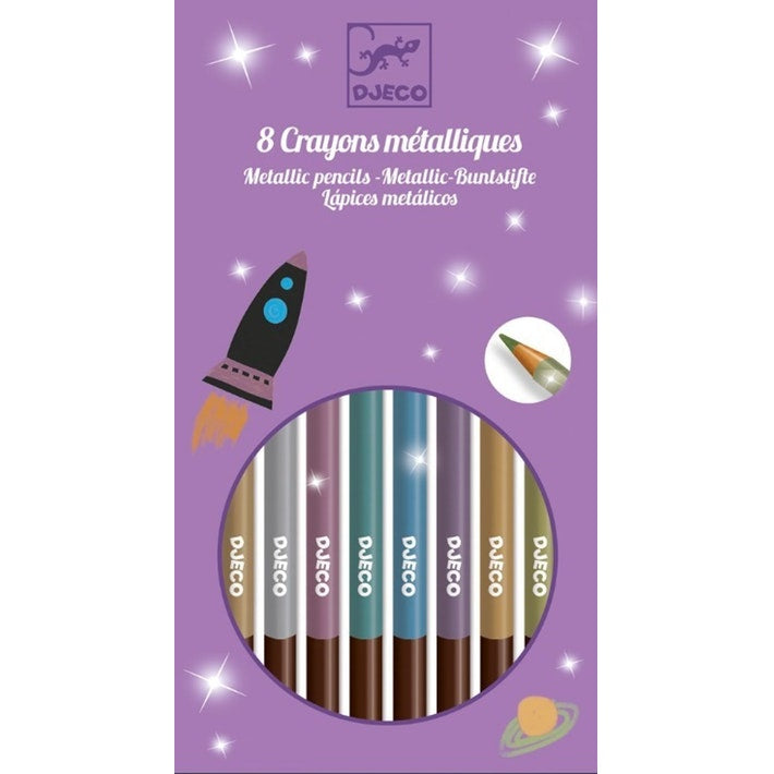 Metallic Pencils 8pk