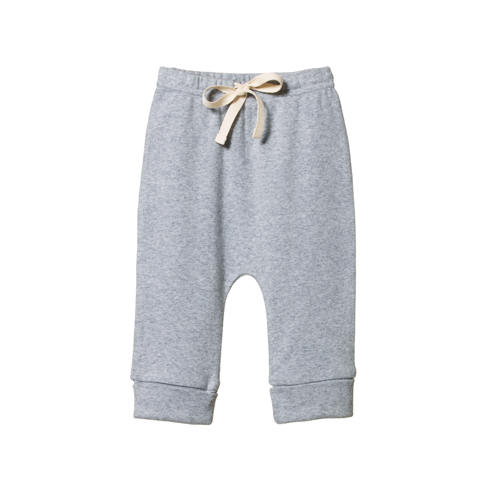 Nature Baby Drawstring Pants Grey Marl