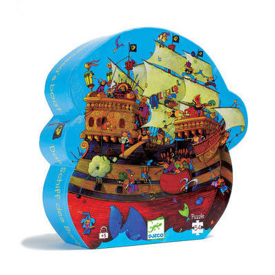 Silhouette Puzzle Pirate Ship