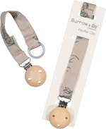 Burrow & Be Pacifier Clip Grey Burrowers