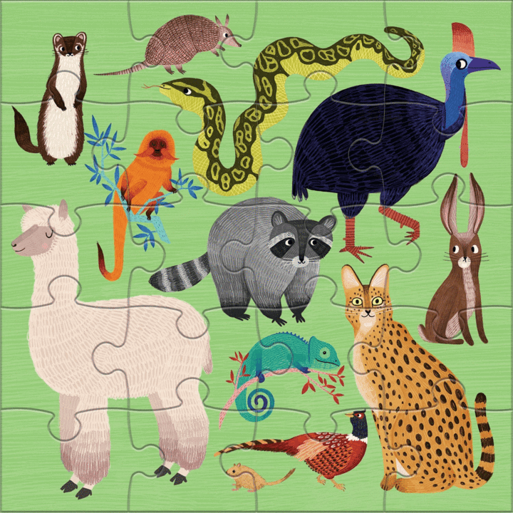Magnetic Puzzles Land and Sea Animals 20pce