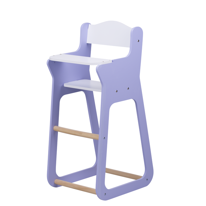 Moover Wooden Doll High Chair Purple