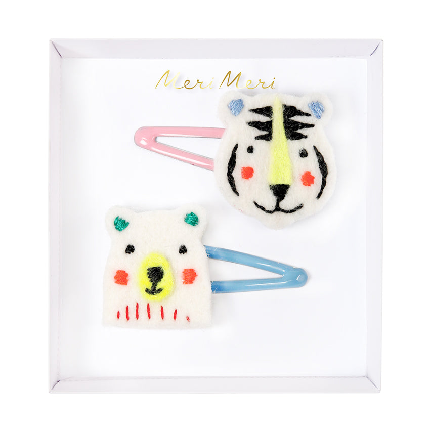 Meri Meri Bear & Tiger Hair Clips
