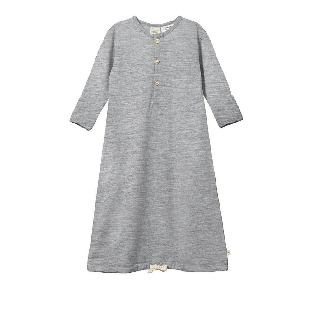 Nature Baby Merino Sleeping Gown Grey Marl